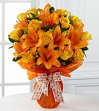 Party Perfect Birthday Bouquet - VASE INCLUDED