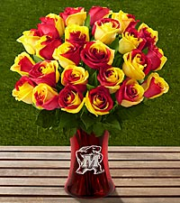 The FTD&reg; University of Maryland&reg; Terrapins&trade; Rose Bouquet - VASE INCLUDED