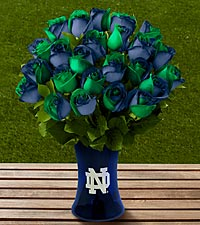 The FTD&reg; Notre Dame&reg; Fighting Irish&trade; Rose Bouquet - VASE INCLUDED