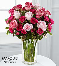 Paris Pinks Bouquet in Waterford® - VASE INCLUDED
