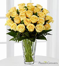 Passion™ for Sunshine Rose Bouquet of 20-inch Roses