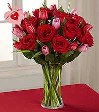Let Love In Valentine 's Day Bouquet