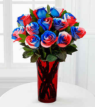 Bless the U.S.A. Fiesta Rose Bouquet