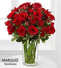Heart's Truth Bouquet with Waterford® - VASE INCLUDED