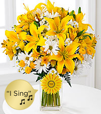 Walking on Sunshine 'Singing' Bouquet - VASE INCLUDED