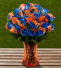 The FTD&reg; Syracuse University&reg; Orange&reg; Rose Bouquet - VASE INCLUDED
