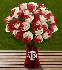 The FTD&reg; Texas A&M University&reg; Aggies&trade; Rose Bouquet - VASE INCLUDED
