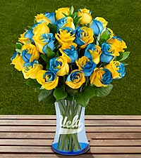 The FTD&reg; UCLA Bruins&reg; Rose Bouquet - VASE INCLUDED