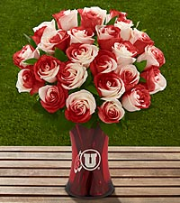 The FTD&reg; University of Utah&reg; Utes&trade; Rose Bouquet - VASE INCLUDED