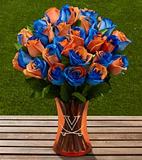 The FTD&reg; University of Virginia&reg; Cavaliers&reg; Rose Bouquet - VASE INCLUDED