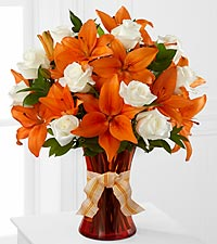 Petal Party Happy Birthday Rose & Lily Bouquet - VASE INCLUDED