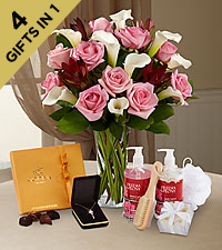 Set to Celebrate Birthday Wishes Ultimate Gift - VASE INCLUDED