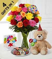 Happy Birthday Party Starter Ultimate Gift - VASE INCLUDED