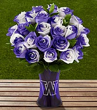 The FTD&reg; University of Washington&reg; Huskies&reg; Rose Bouquet - VASE INCLUDED