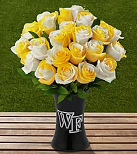 The FTD® Wake Forest University™ Demon Deacons™ Rose Bouquet - VASE INCLUDED