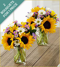 Sunflower Fields Bouquets - JARS INCLUDED