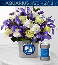 The FTD® Discovering Your Star Aquarius Zodiac Flower Bouquet - VASE INCLUDED