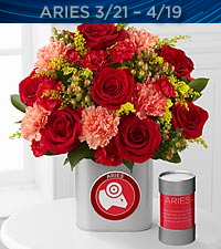 The FTD ® Discovering Your Star Aries Zodiac Flower Bouquet - VASE INCLUDED