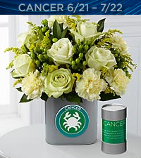 The FTD&reg; Discovering Your Star Cancer Zodiac Flower Bouquet - VASE INCLUDED