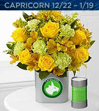 The FTD&reg; Discovering Your Star Capricorn Zodiac Flower Bouquet - VASE INCLUDED