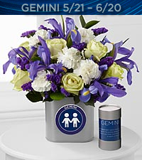 The FTD ® Discovering Your Star Gemini Zodiac Flower Bouquet - VASE INCLUDED