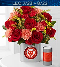 The FTD ® Discovering Your Star Leo Zodiac Flower Bouquet - VASE INCLUDED