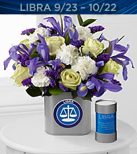 The FTD ® Discovering Your Star Libra Zodiac Flower Bouquet - VASE INCLUDED