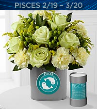 The FTD ® Discovering Your Star Pisces Zodiac Flower Bouquet - VASE INCLUDED