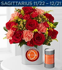 The FTD® Discovering Your Star Sagittarius Zodiac Flower Bouquet - VASE INCLUDED