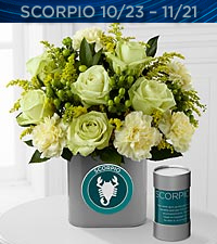 The FTD&reg; Discovering Your Star Scorpio Zodiac Flower Bouquet - VASE INCLUDED