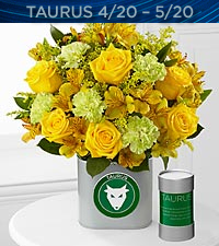 The FTD® Discovering Your Star Taurus Zodiac Flower Bouquet - VASE INCLUDED