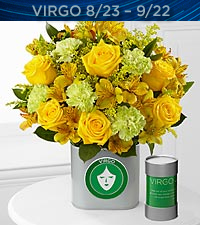 The FTD&reg; Discovering Your Star Virgo Zodiac Flower Bouquet - VASE INCLUDED