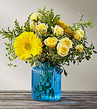 The FTD ® Something Blue™ Bouquet by Better Homes and Gardens ®- VASE INCLUDED