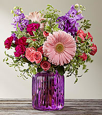 The FTD ® Purple Prose™ Bouquet by Better Homes and Gardens ®- VASE INCLUDED