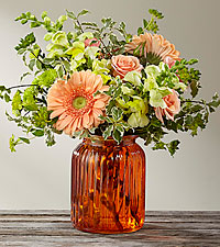 The FTD ® Peachy Keen™ Bouquet by Better Homes and Gardens ®- VASE INCLUDED