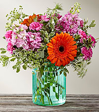 The FTD ® Aqua Escape™ Bouquet by Better Homes and Gardens ®- VASE INCLUDED