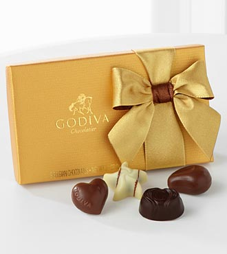 Godiva® Gold Ballotin Assorted Chocolates - 8-piece Box