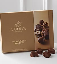 Godiva® Nut & Caramel Gift Box - 19-pieces