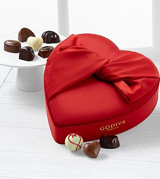Godiva® Satin Heart - 15-piece Assorted Chocolates