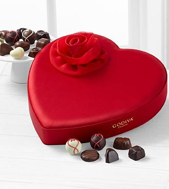 Godiva® Satin Heart - 40-piece Assorted Chocolates