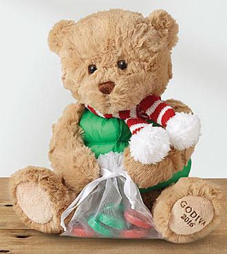 Godiva 's Santa Bear With Chocolate Bar