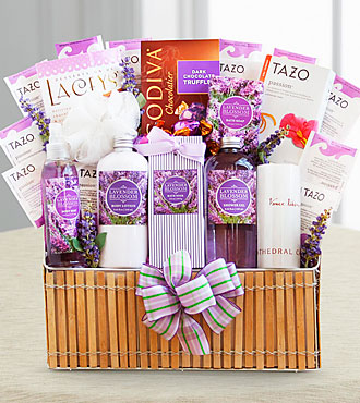 Lavender Spa Gift Baskets