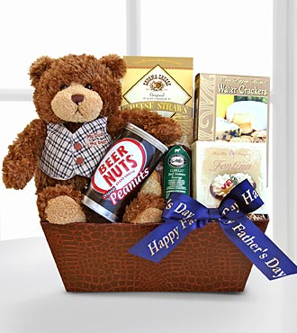 Father's Day bear and gift basket