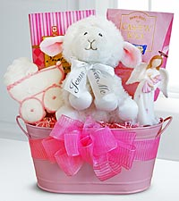 New Baby Girl Blessing Basket