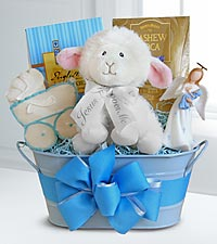 New Baby Boy Blessing Basket