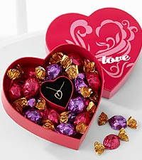 Always in My Heart Pendant & Godiva® Chocolate Truffles Gift