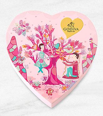 Godiva Valentine Heart - 14 piece