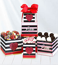 Sweet Romance Valentine Candy Tower