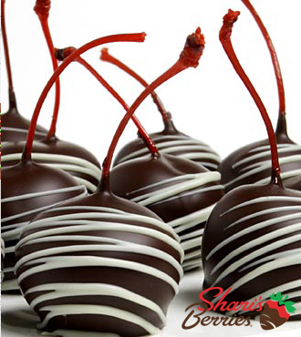 Chocolate Dip Delights Real Chocolate Covered Maraschino Cherries - 24 pieces