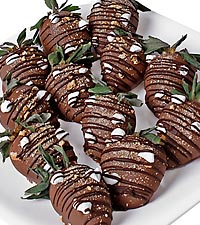 Chocolate Dip Delights™ Give Me Smore Real Chocolate Covered Strawberries - 12 piece
